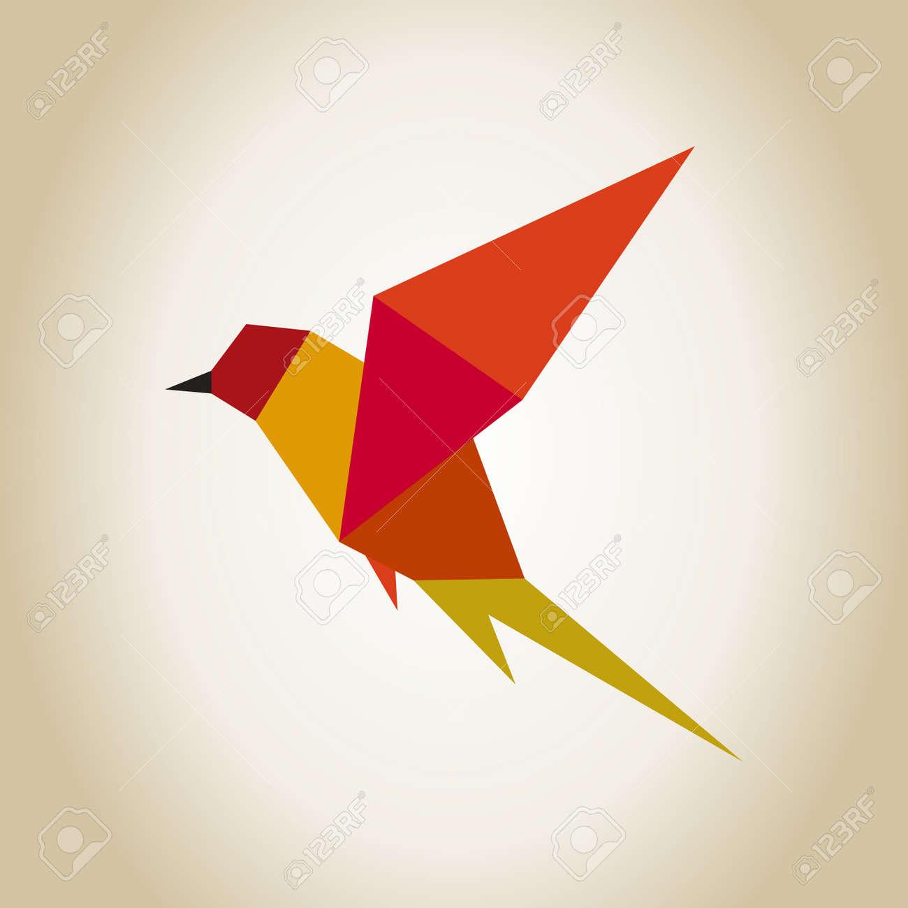 abstraction a bird in flight a vector illustration royalty free
