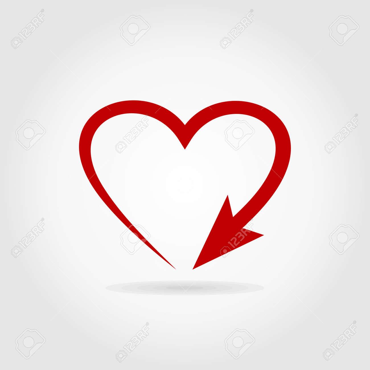 Arrow heart. A vector illustration - 26130373