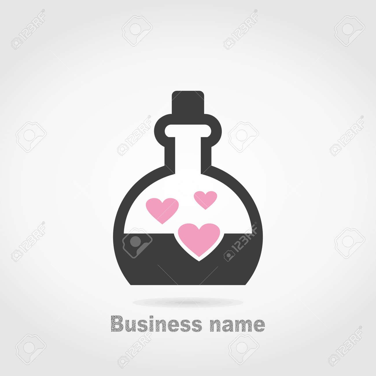Heart in inside flasks. A vector illustration - 26708015