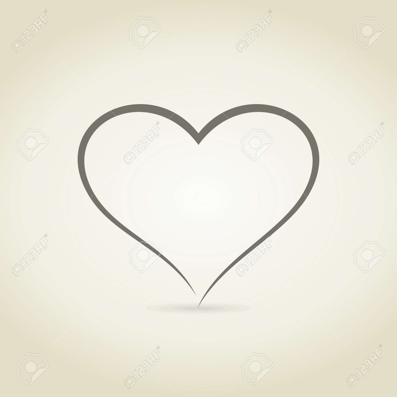 Heart in the form of the sketch. A vector illustration - 26708018