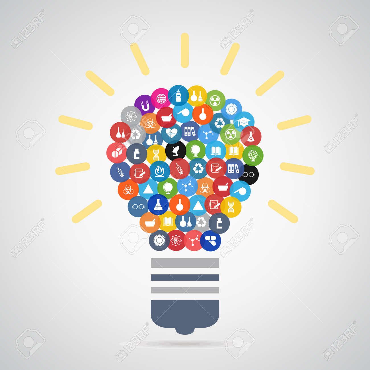 科学イラストの電球のイラスト素材ベクタ Image 33504841