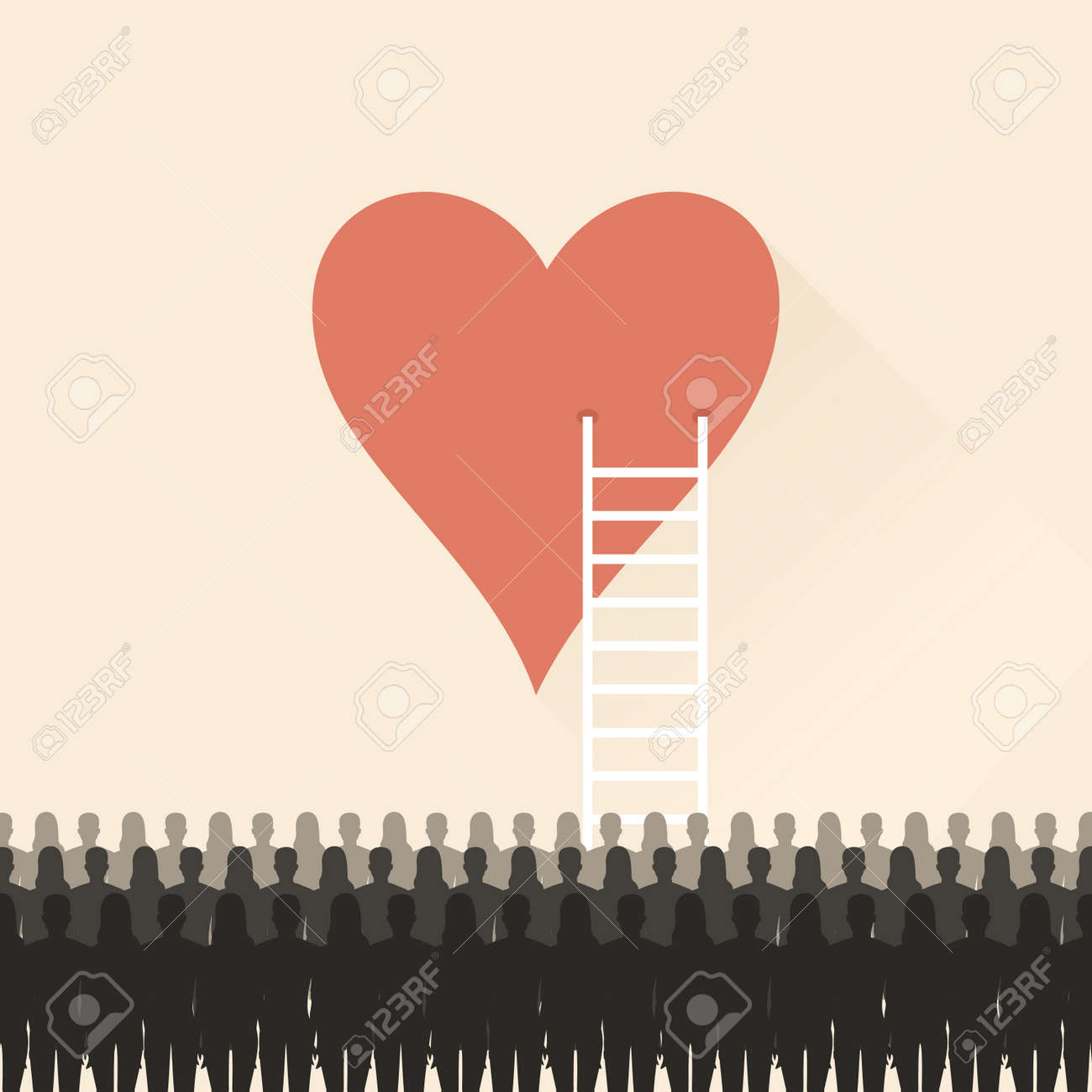 Stairs to the heart. - 62247259
