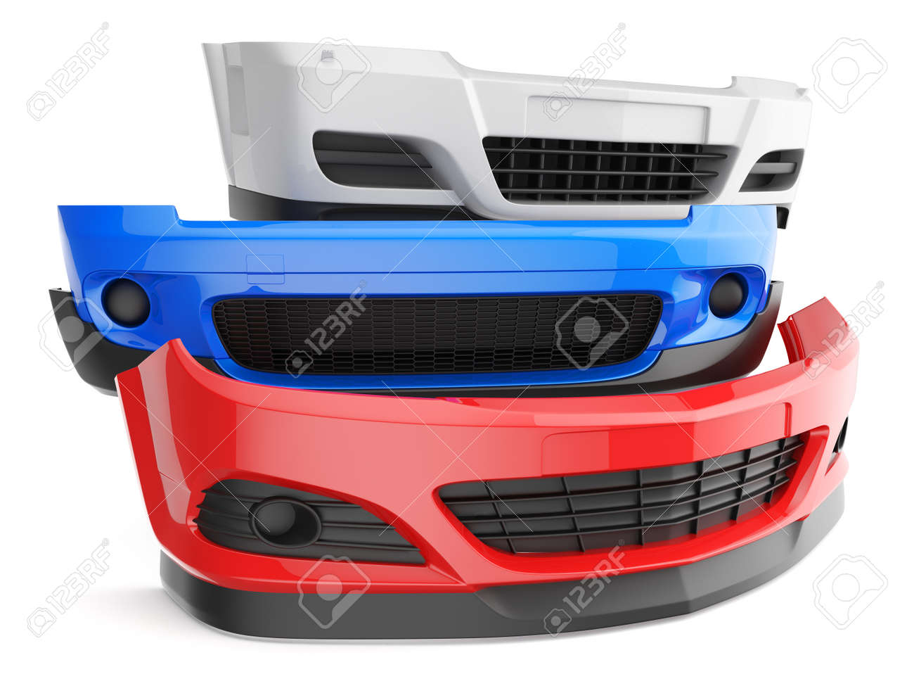 Bumper bumpers isolated car auto front fender parts plastic automobile body stock photo 39374998