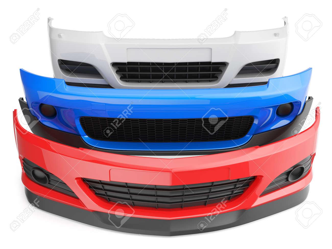 Stoßfänger Stoßfänger Isoliert Auto Auto Vorderen Kotflügel Teile ...