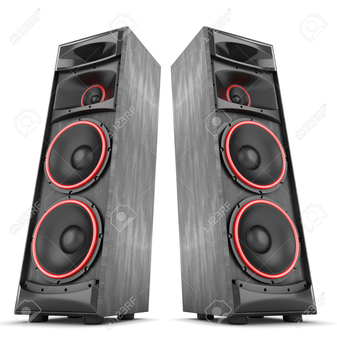 speakers music. speakers boxes audio music concert two isolated high big stock photo - 40226117 s