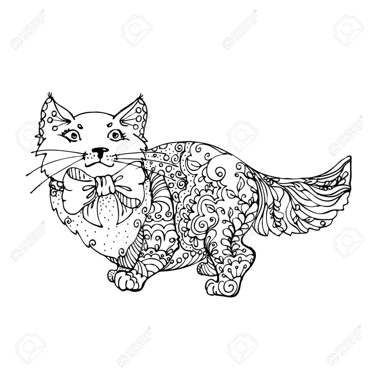 Ausmalbilder Erwachsene Katzen : Fantastisch Ausmalbilder Erwachsene Katze Zeitgen Ssisch