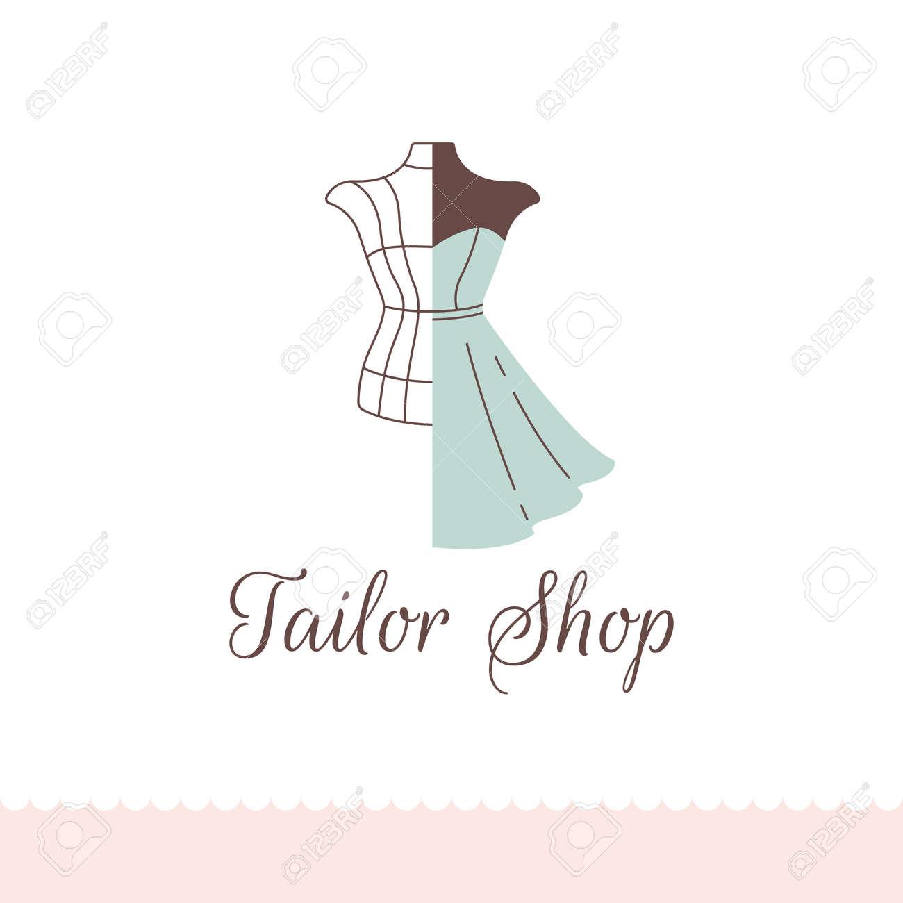Logo Pour Tailleur Salon De Couturiers Atelier De Couture Magasin De Vetements Et Createur De Mode