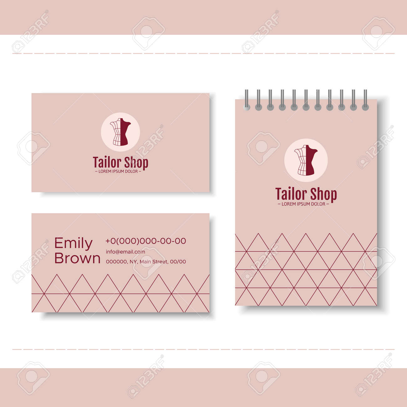 Branding For Tailor Shop Dressmakers Salon Sewing Studio Clothing Royalty Free Cliparts Vectors And Stock Illustration Image 91197843