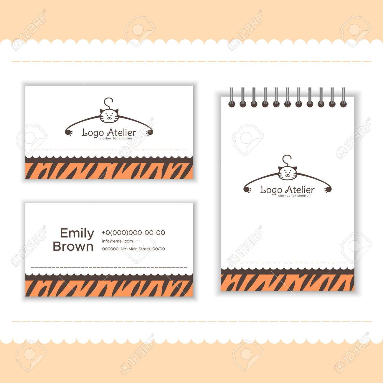 Branding For The Childrens Clothing Store Logo Business Card