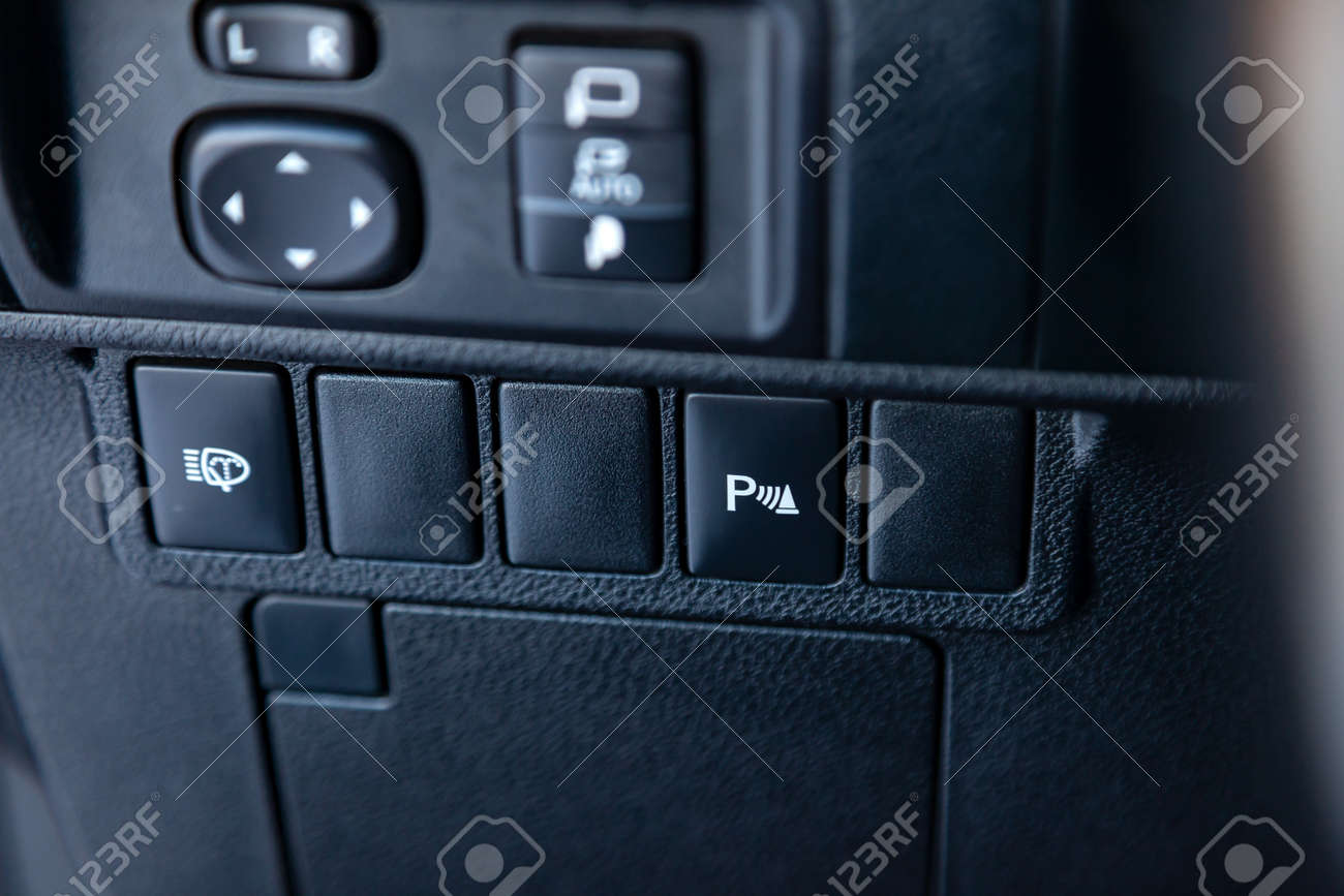 Parking Sensor Button On The Center Console Of The Instrument
