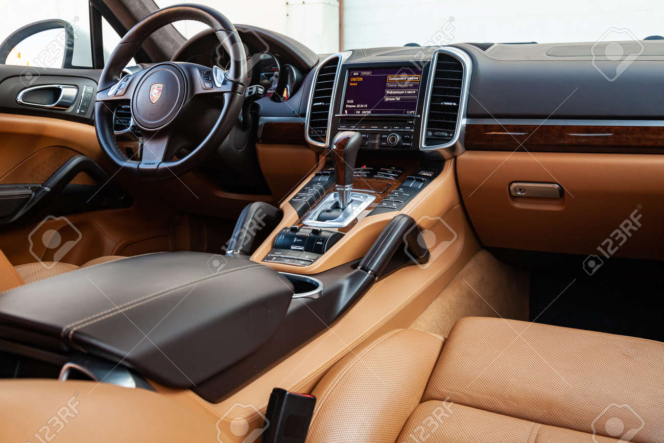 Novosibirsk Russia 04 12 2019 The Interior Of The Car Porsche Stock Photo Picture And Royalty Free Image Image 138946279