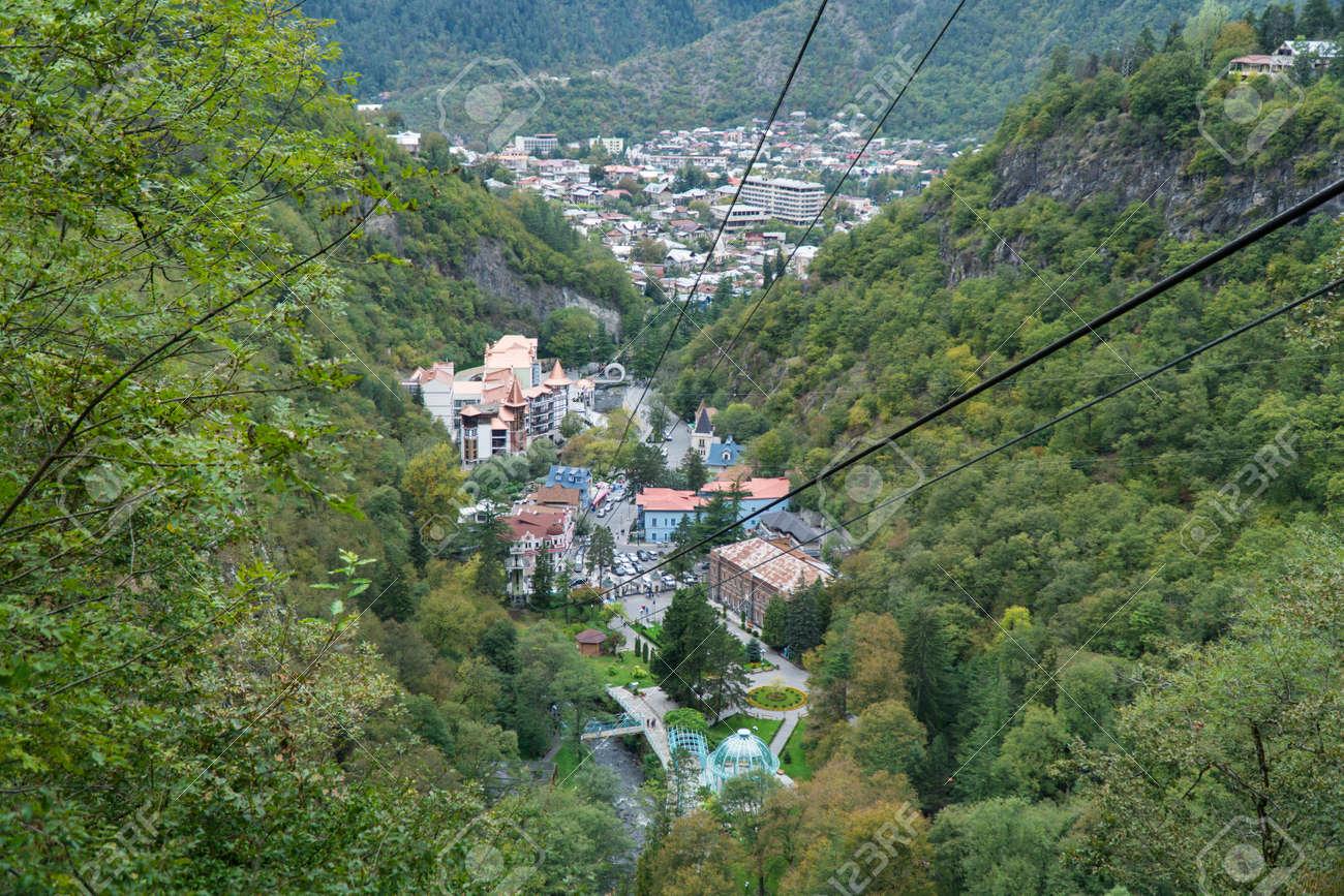 Cable car in Borjomi. Georgia, September. - 77010486