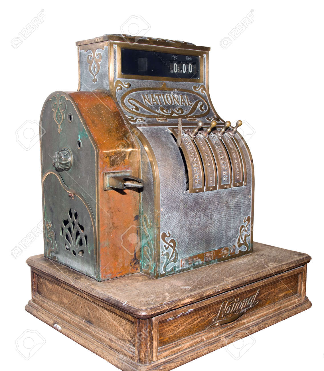 Museum a cash register on a white background isolated Stock Photo - 13715573