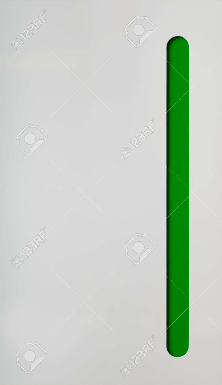 Küchenschrank Tür. Weiß Mit Grünem Teil Lizenzfreie Fotos, Bilder ...