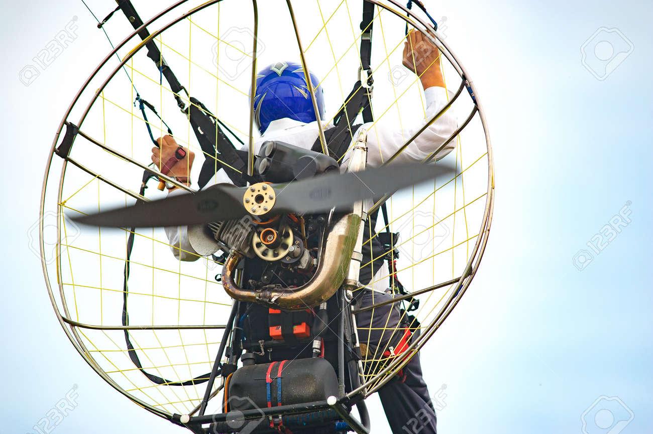 Bila Tserkva, Ukraine  June 20, 2016 Paragliding, training flights