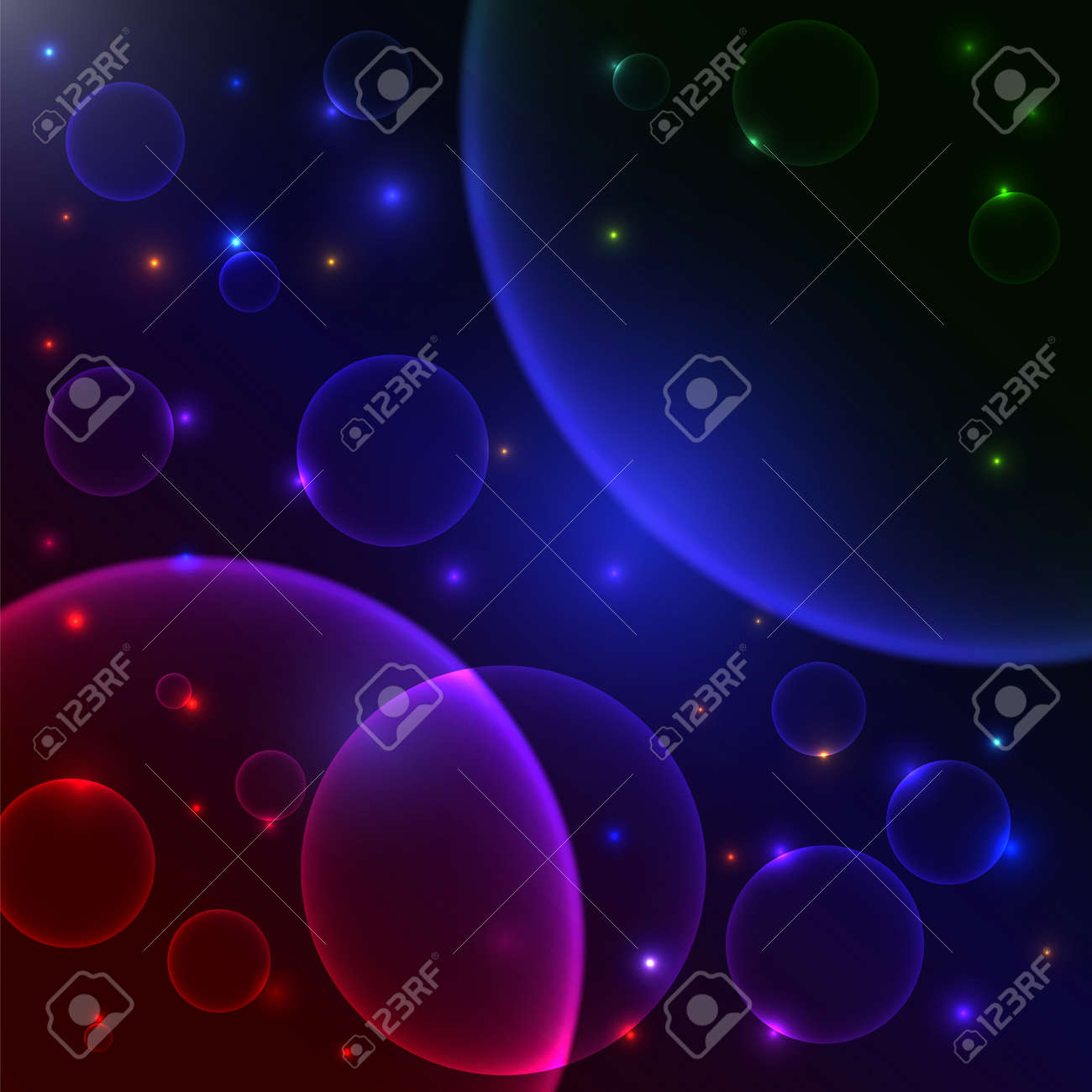 Abstract space background Vector illustration Stock Vector - 24507034