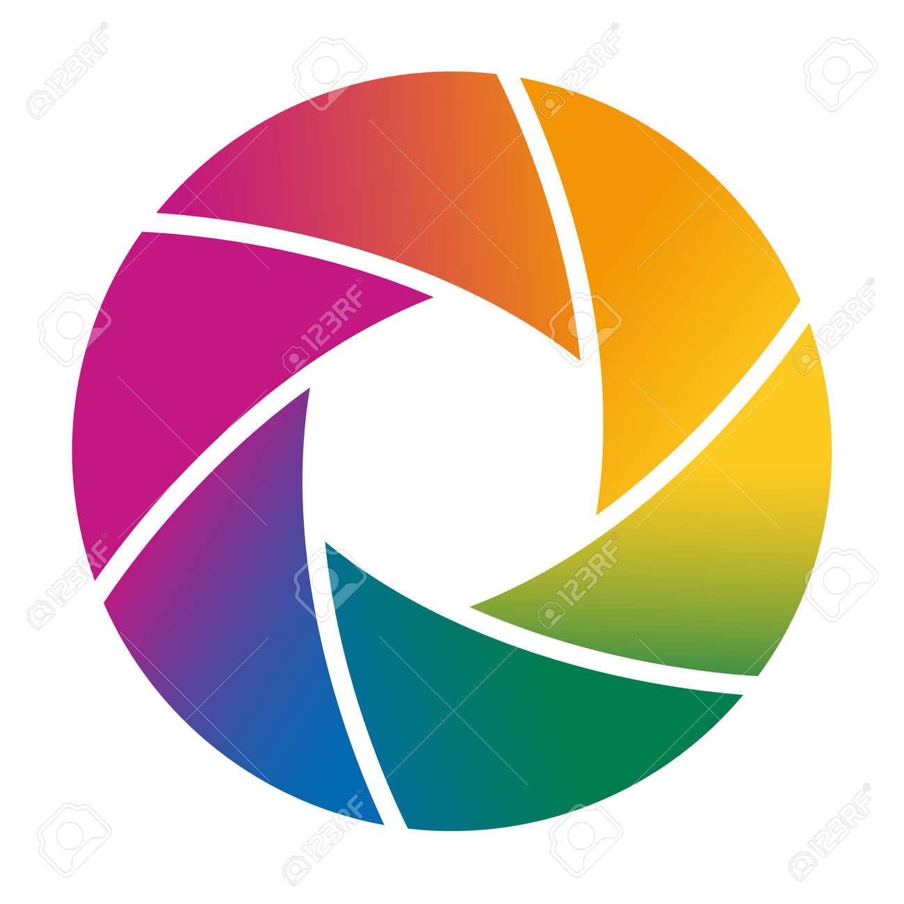 colorful camera shutter vector illustration royalty free cliparts rh 123rf com shutter vector free shutter vector free
