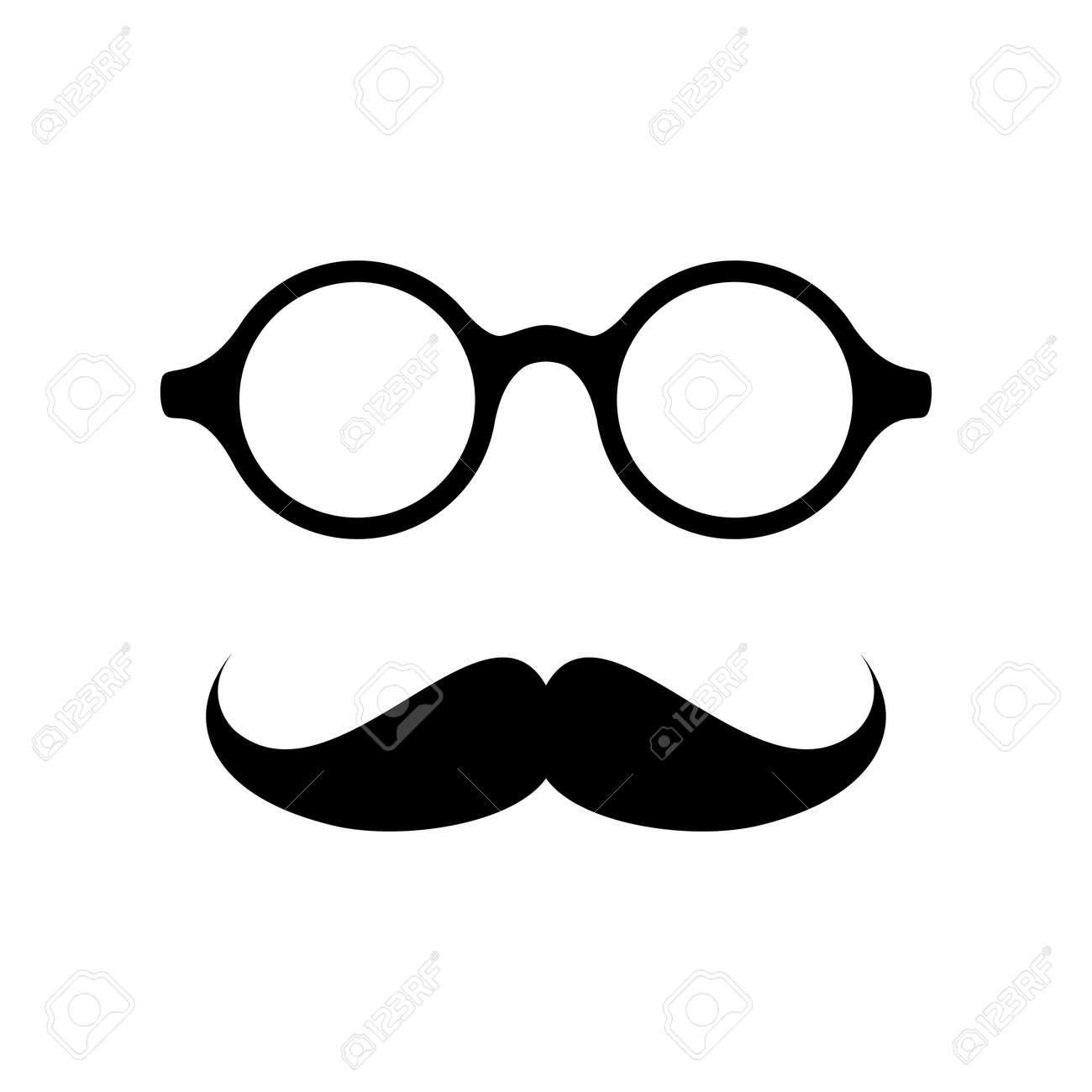 glasses with mustache vector illustration royalty free cliparts rh 123rf com mustache vector ai mustache vector free