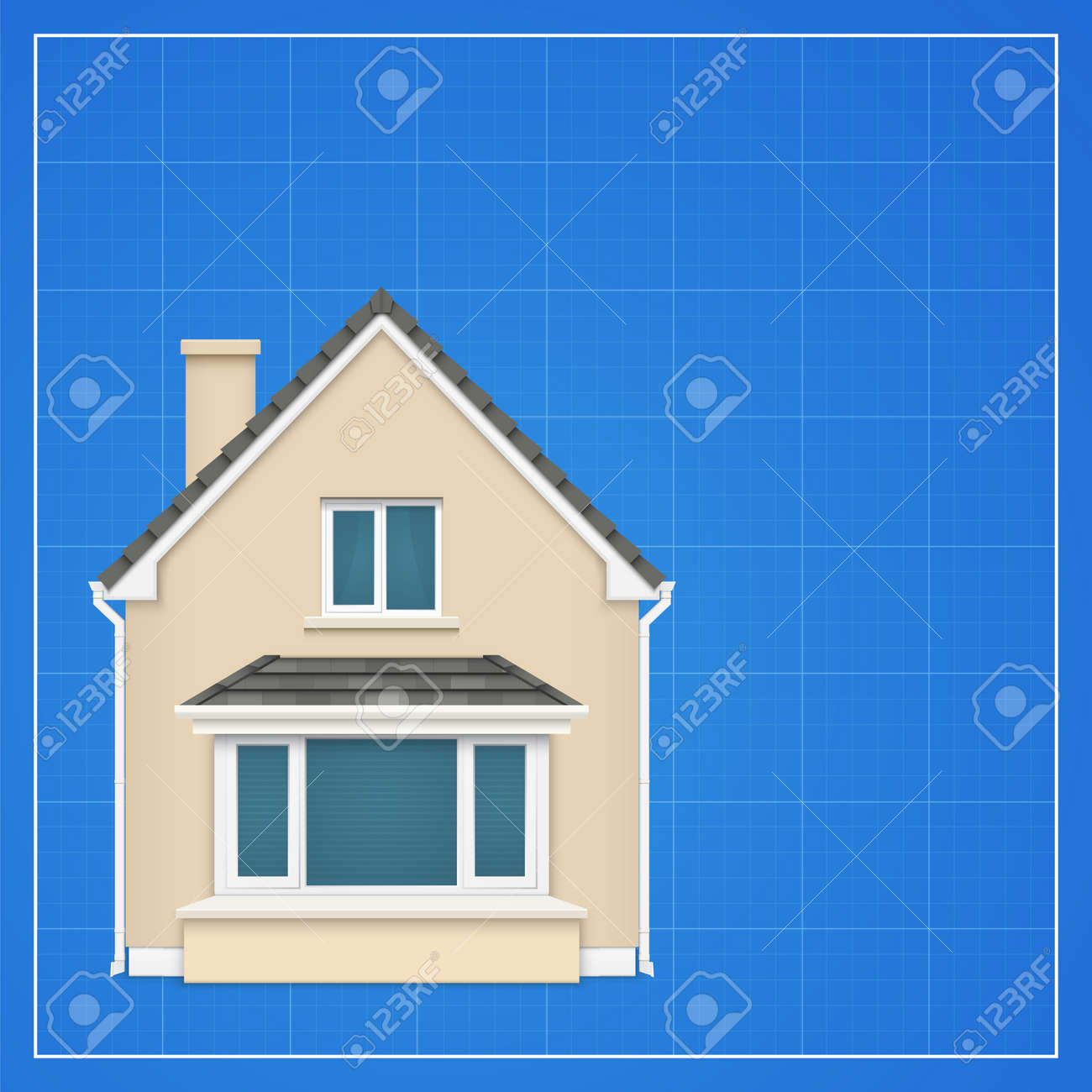 Architecture background with detailed house on a blueprint vector architecture background with detailed house on a blueprint vector illustration stock vector 31599951 malvernweather Images