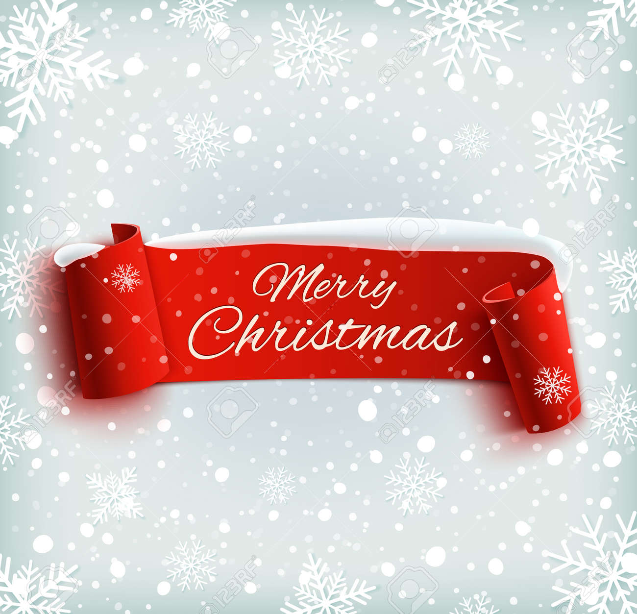 Merry Christmas Celebration Background With Red Realistic Ribbon Royalty Free Cliparts Vectors And Stock Illustration Image 33341518