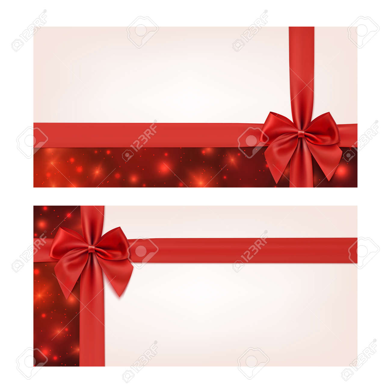 Gift voucher template with red ribbon and a bow vector gift voucher template with red ribbon and a bow vector illustration stock vector 36895698 negle Image collections
