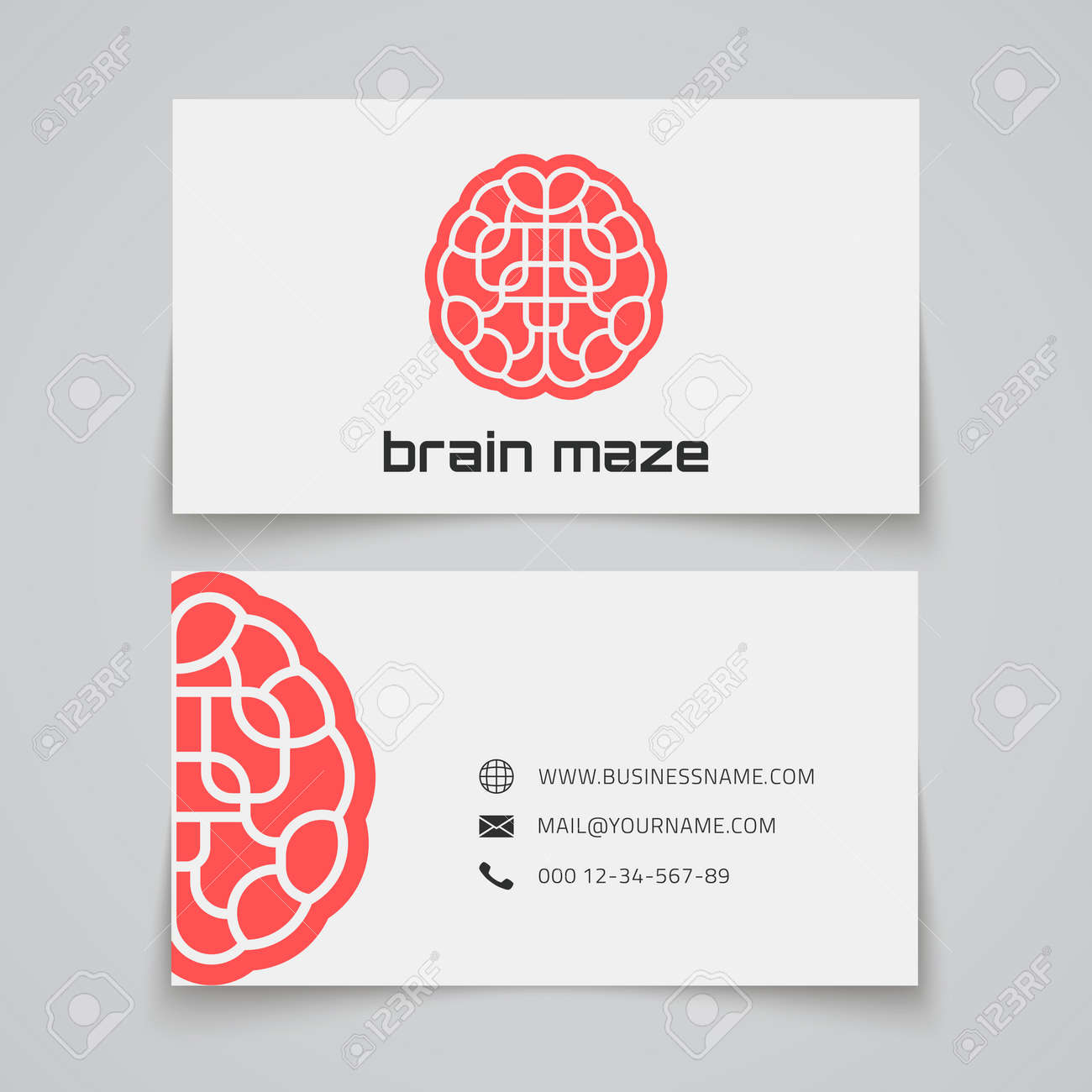 Business card template brain maze concept logo vector illustration business card template brain maze concept logo vector illustration imagens 37936041 reheart Gallery