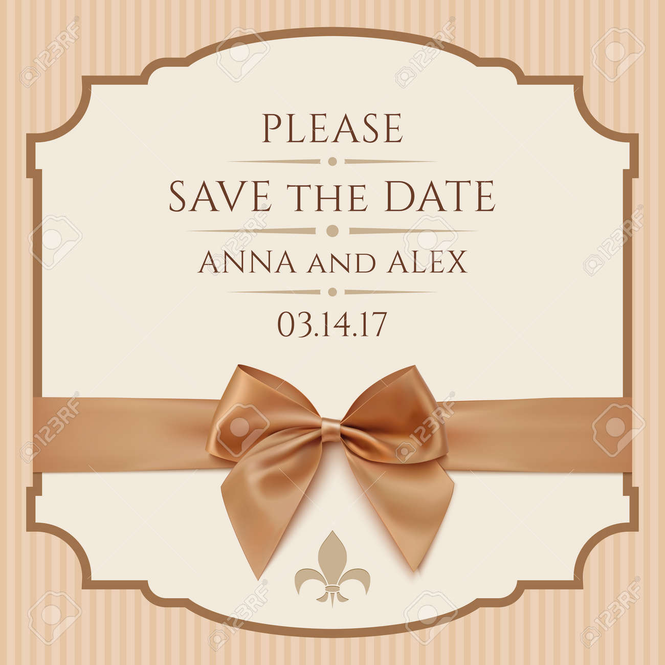 save the date wedding invitation card vintage greeting card
