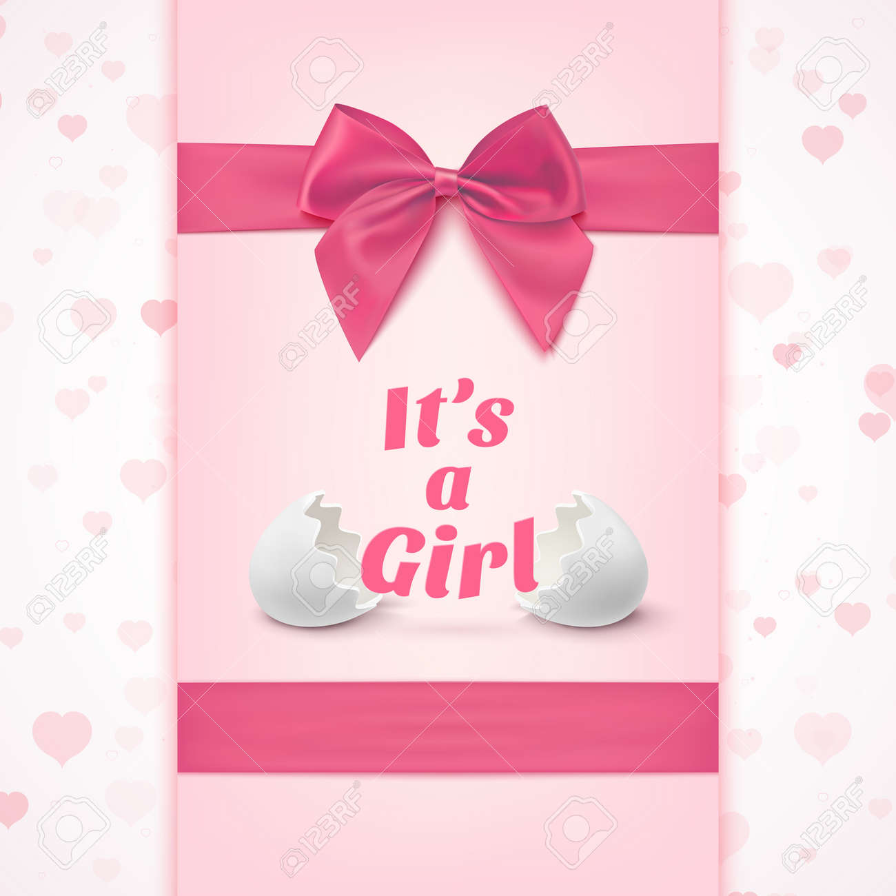 Its A Girl Template For Baby Shower Celebration Or Baby
