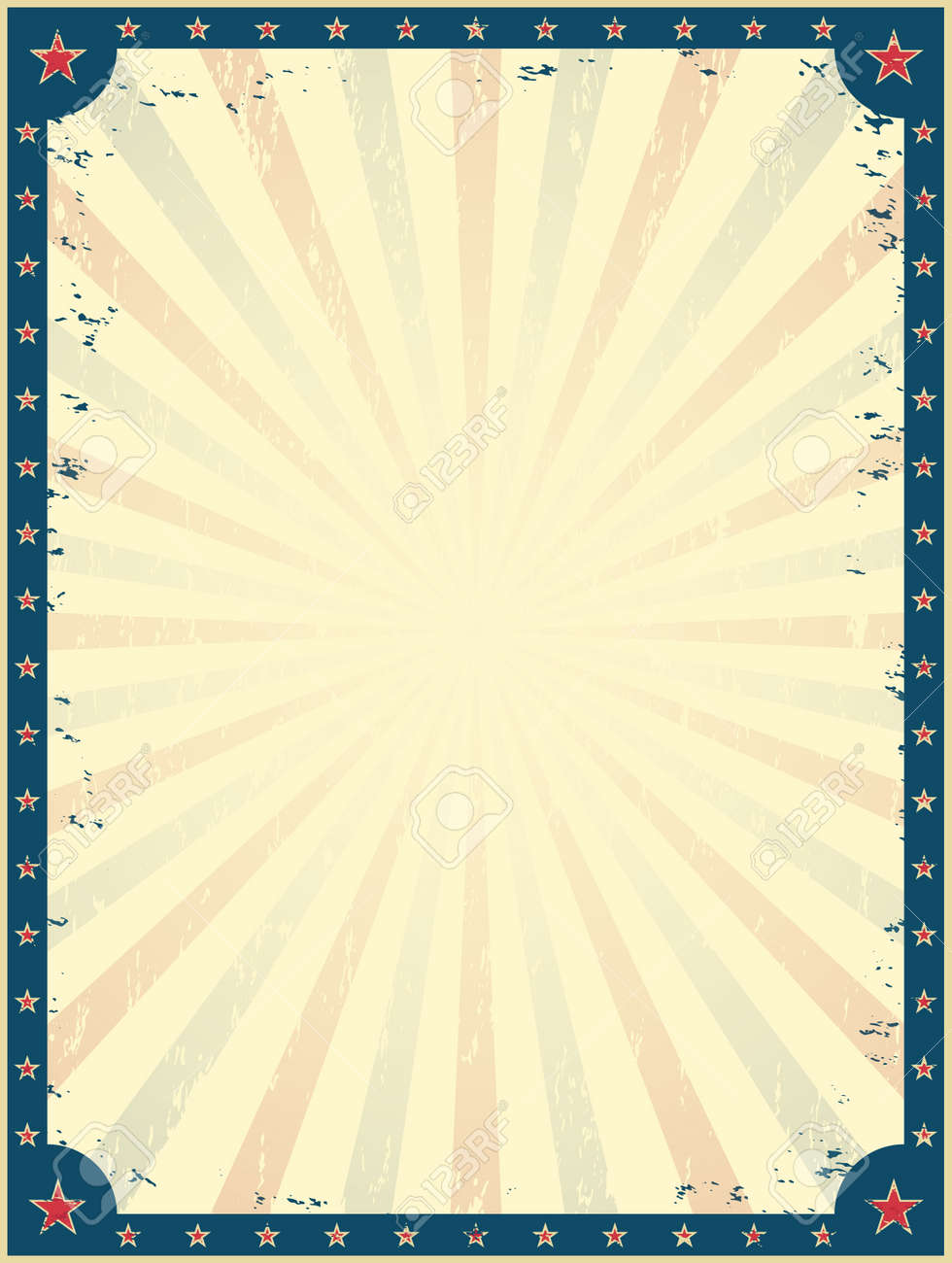 Vintage Circus Poster Template. Funfair. Invitation To The Show ...