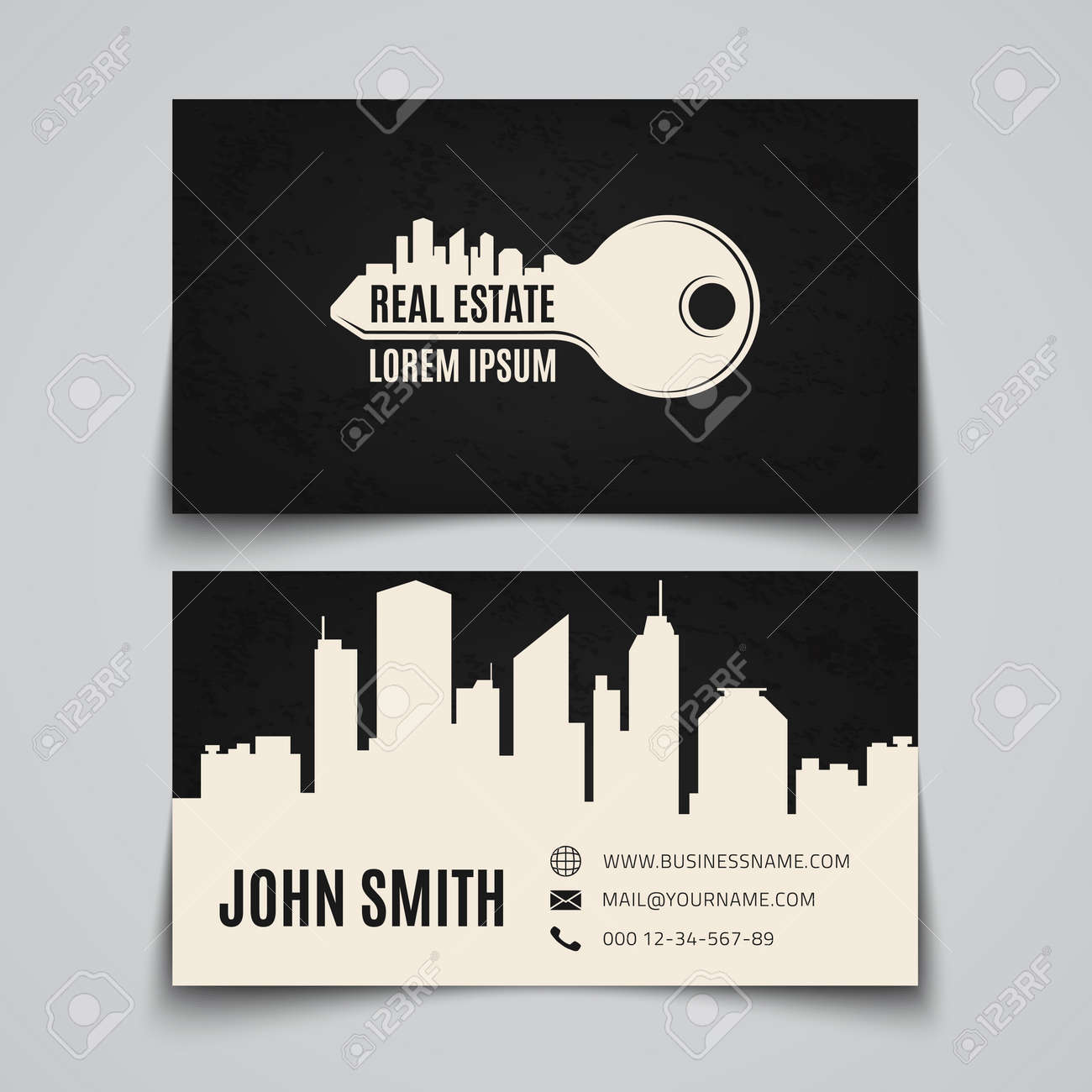 Real estate simple key logo business card template vector real estate simple key logo business card template vector illustration stock vector reheart Images