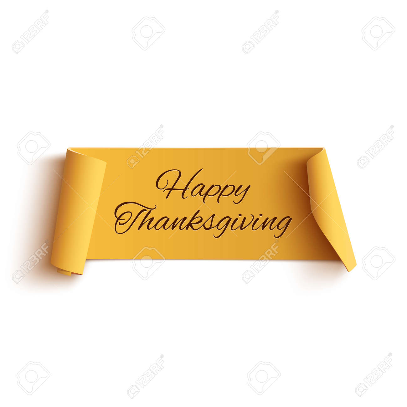 Happy Thanksgiving Banner Stock Photos & Pictures. Royalty Free ...
