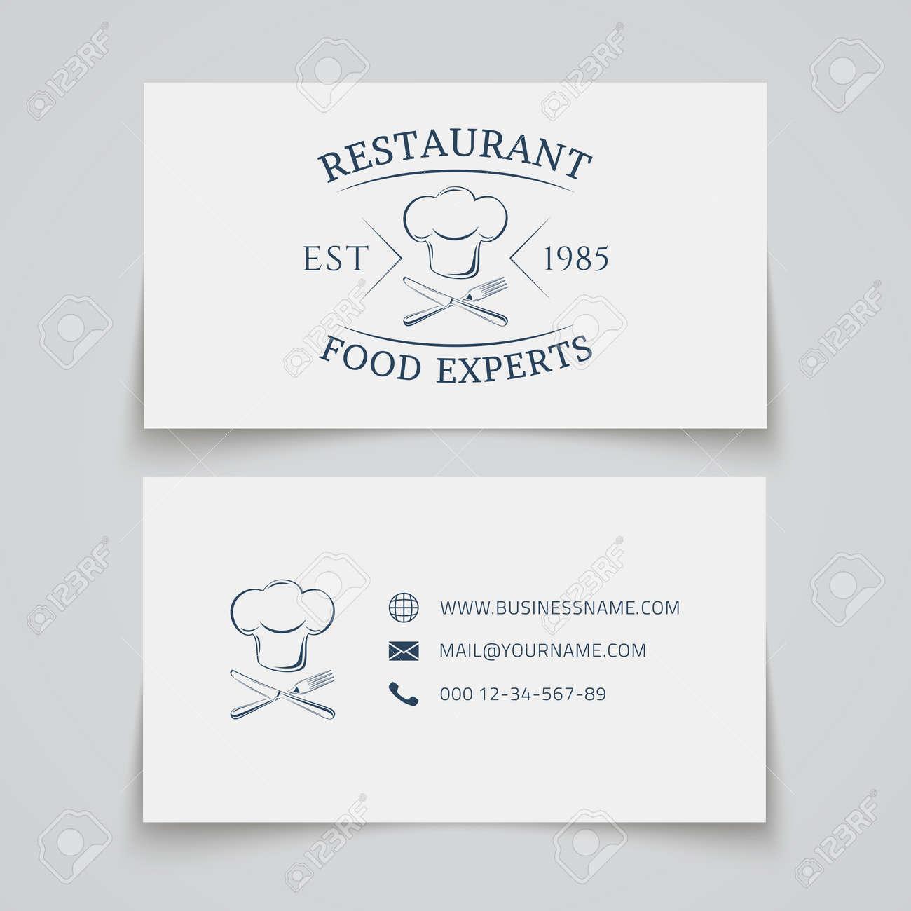 Modele De Carte Visite Avec Un Restaurant Cafe Bar Ou La