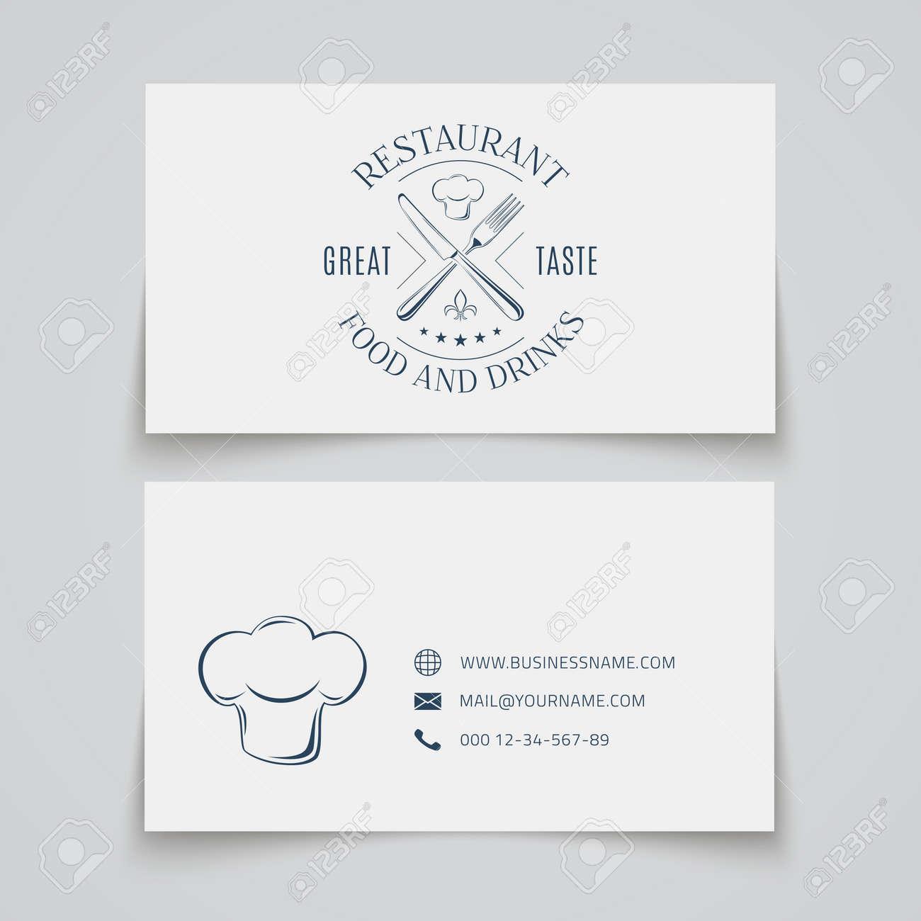 Modle De Carte Visite Avec Logo Pour Un Restaurant Caf