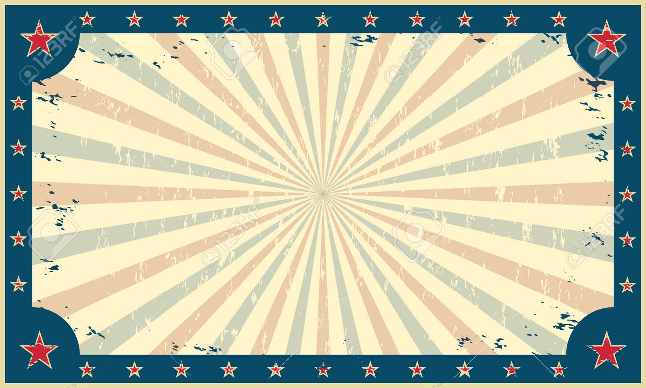 Vintage, grunge background, template for circus funfair carnival poster or ticket. Vector illustration. - 52467649