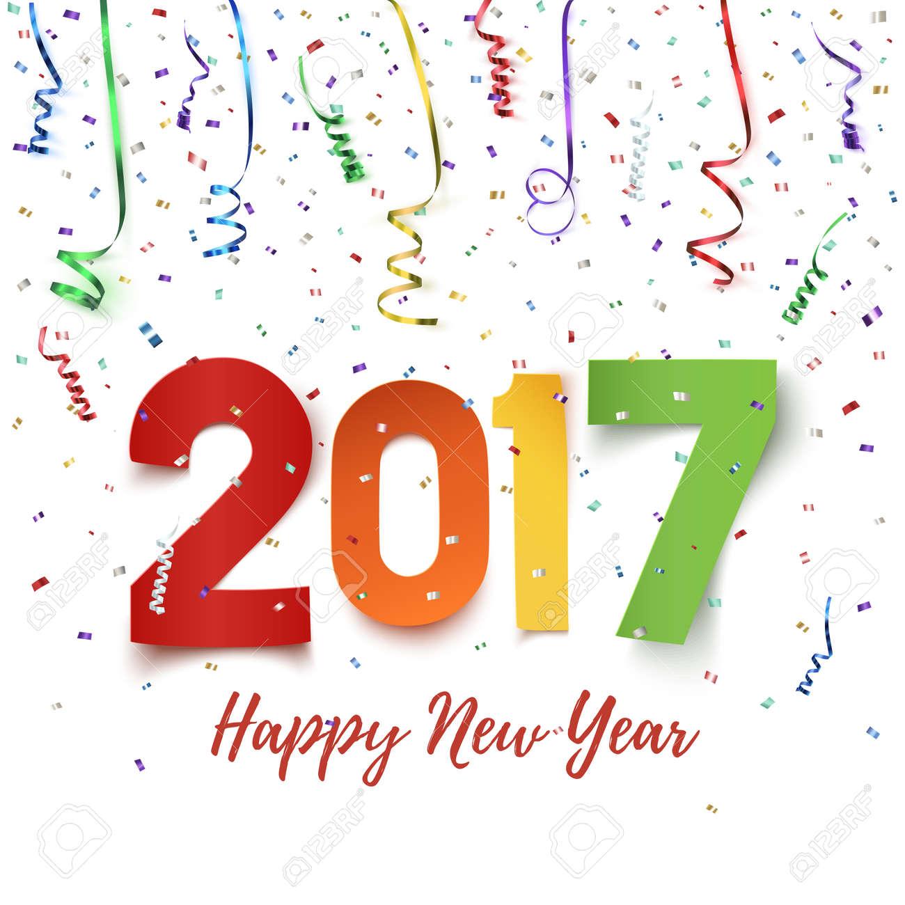 Happy new year 2017 celebration background happy new year 2017 happy new year 2017 celebration background happy new year 2017 colorful paper typeface on background voltagebd Images