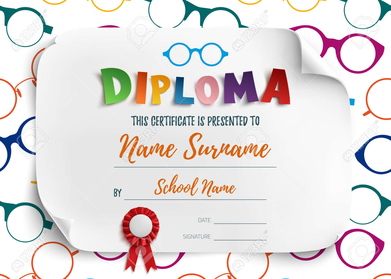 Kids certificate templates bidding proposal template beautiful reading certificate template ideas resume ideas 61125498 diploma template for kids school preschool playschool certificate yelopaper Images