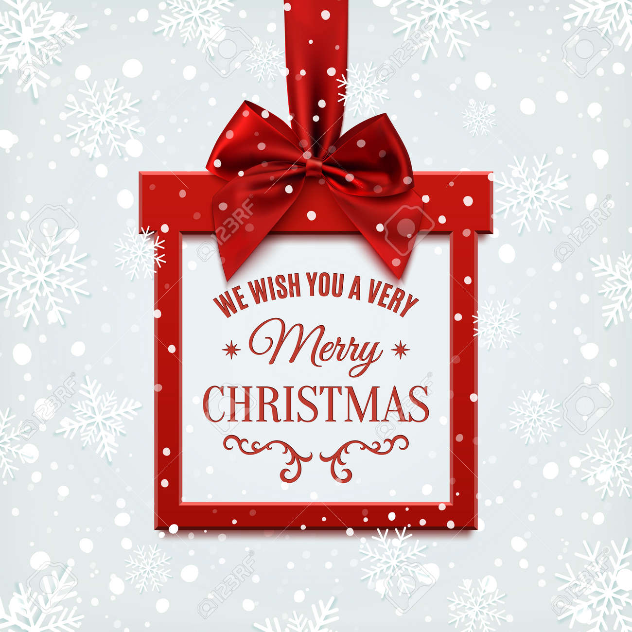 we wish you a very merry christmas square banner in form of