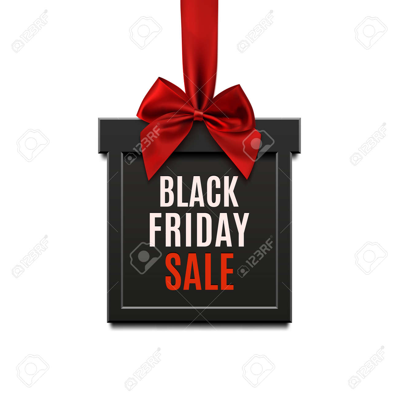 Black Friday Sale, Square Banner In Form Of Christmas Gift With ...