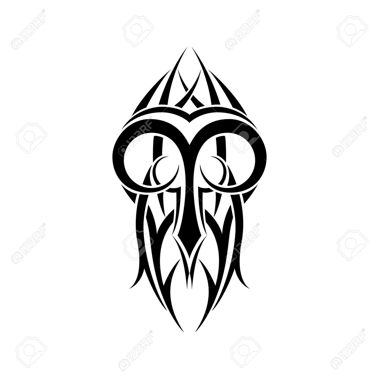 Genoeg Aries Zodiac. Abstract Tribal Tattoo Design. Royalty Free Cliparts &FB91