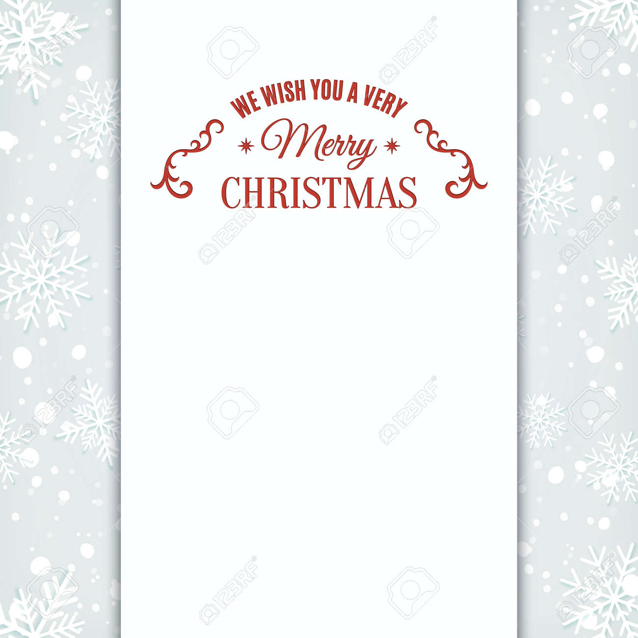 Invitación De La Tarjeta De Felicitación De Navidad, Plantilla Con ...