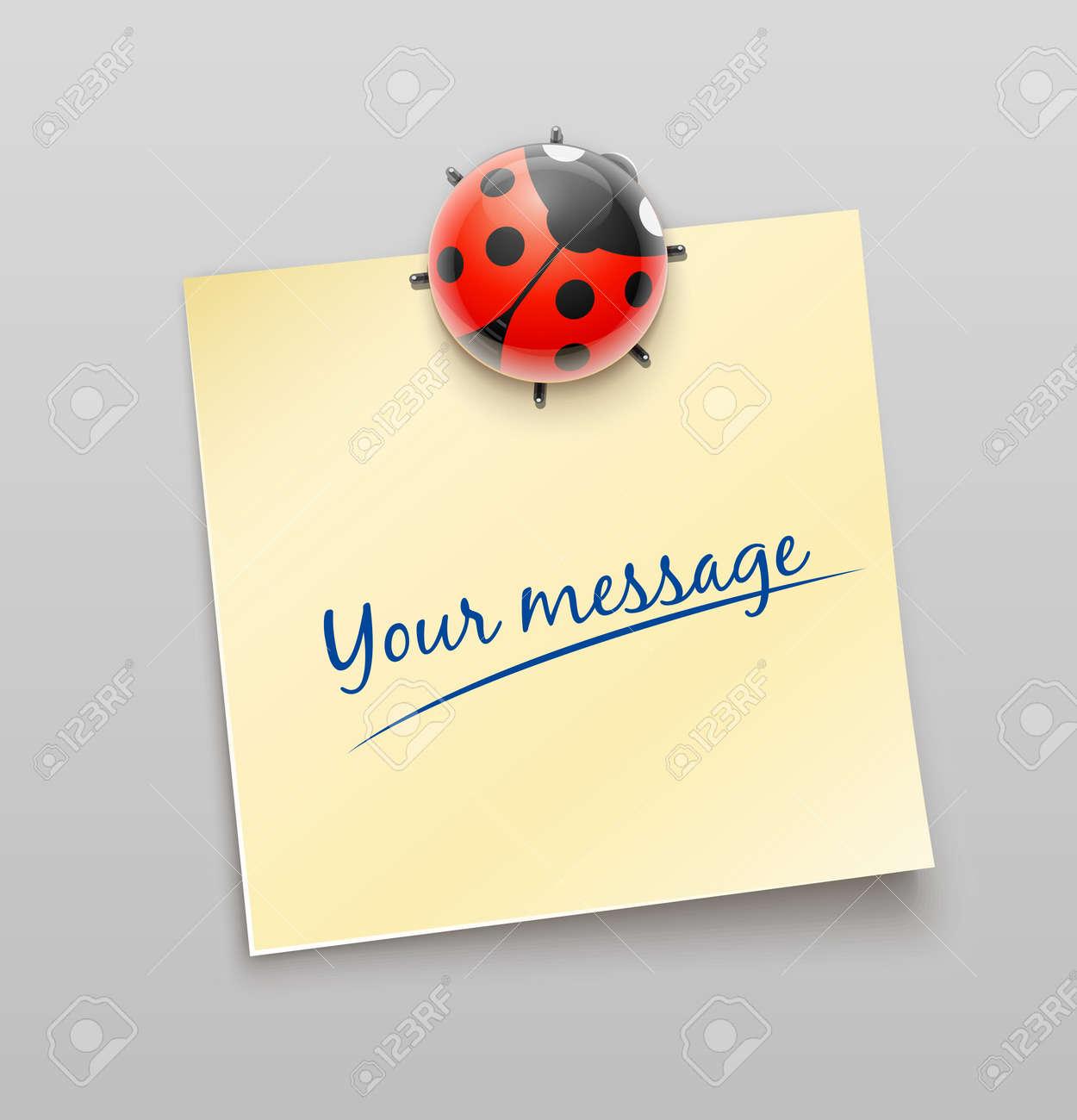 ladybird on sheet illustration - 12772681