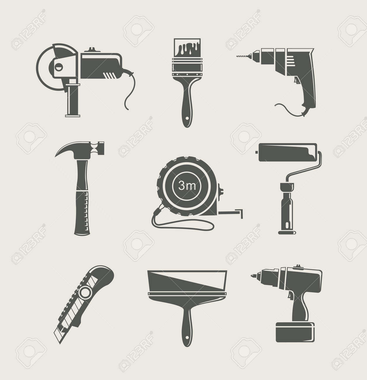 building tool icon  isolated on background Stock Vector - 14017304