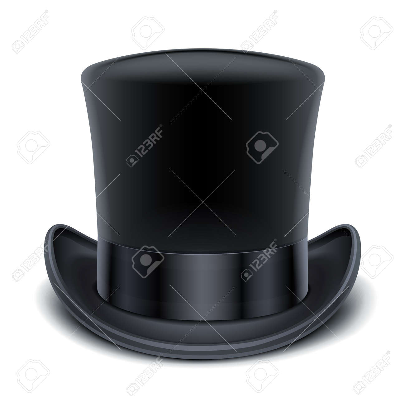 c2d2e08d9 black top hat illustration isolated on white background EPS10...