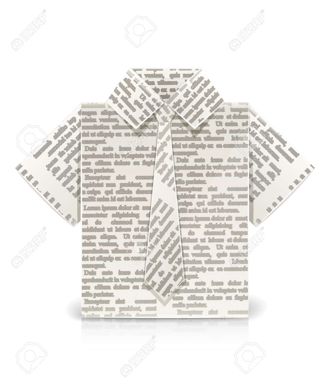 Origami shirt with tie Royalty Free Vector Image | 1300x1112