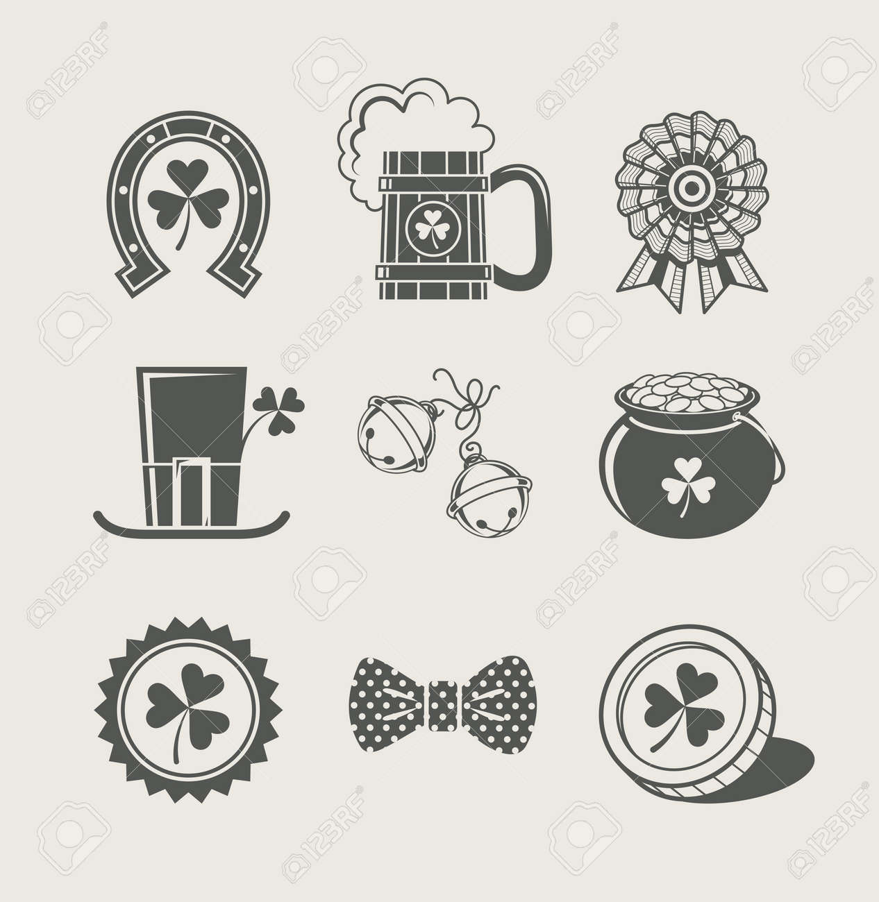 patrick's day set of icons  illustration Stock Vector - 17727920