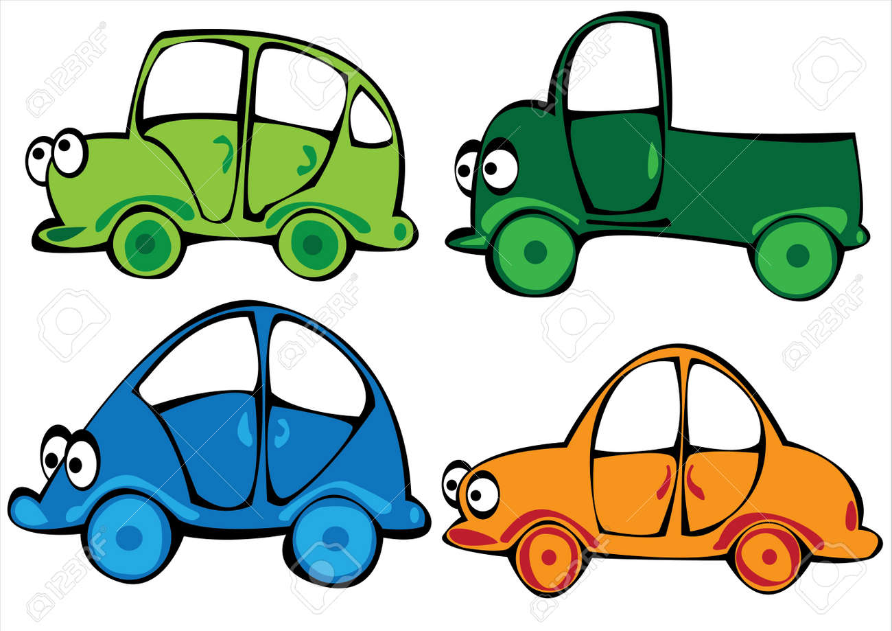 cartoon cars set isolated on white background Stock Vector - 17740462