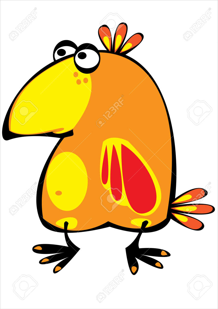 colorful cartoon parrot isolated on white background Stock Vector - 17740464