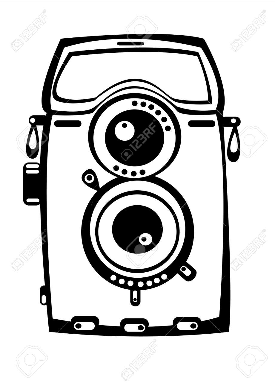 Vintage Film Camera Isolated On White Background Royalty Free