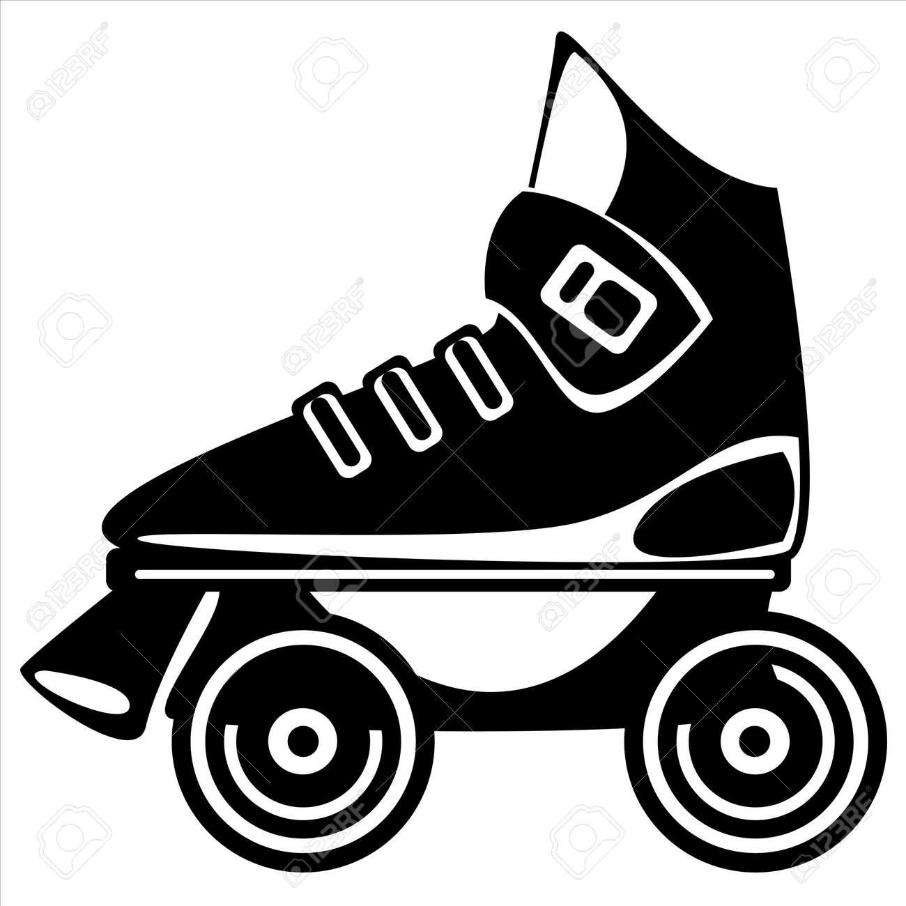 Roller skates for free - Vector Roller Skate On White Background