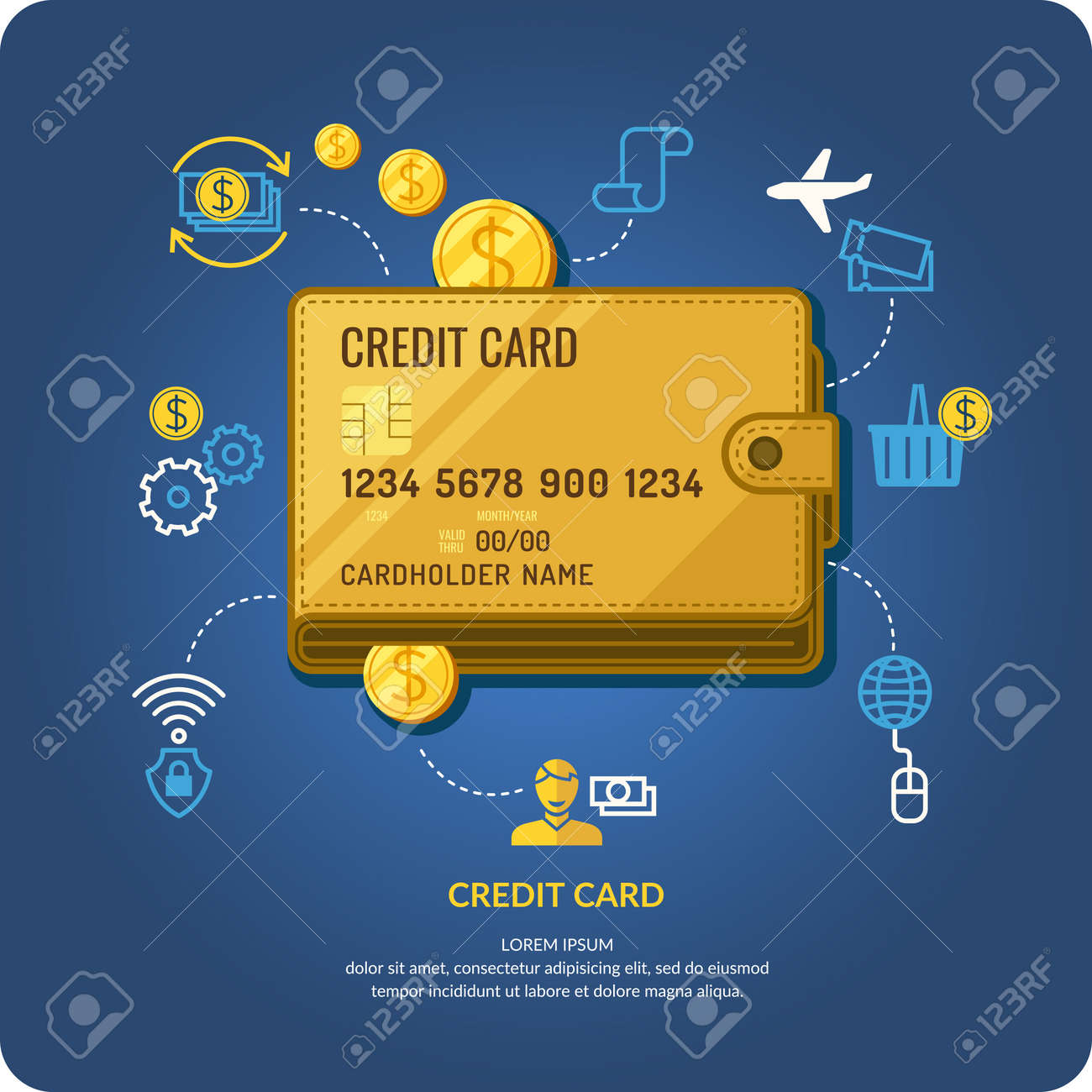 Credit Card. Business Infographics. Icons And Illustrations For ...